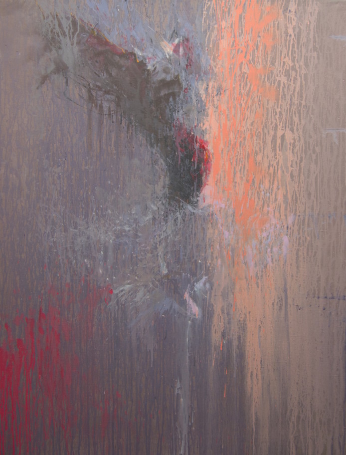 large acrylic painting of an abstract ballerina on canvas in contemporary style