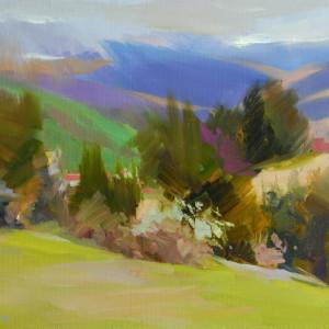 vivid landscape art
