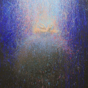 figurative painting of ballerina