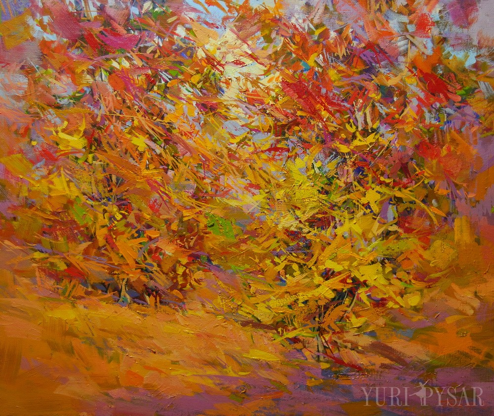 Contemporary paintings of landscapes scenes by winter and for Fall pictures to paint
