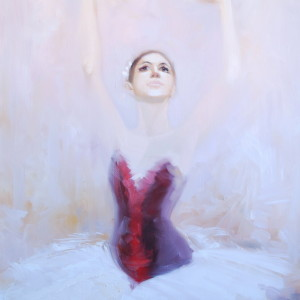 beautiful ballerina painitng