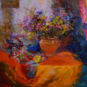 impressionist art of beautiful flowers