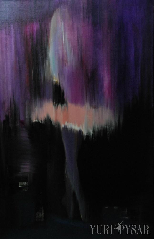 violet ballet dancer art