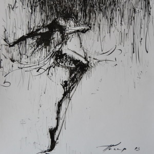 modern dancer painting