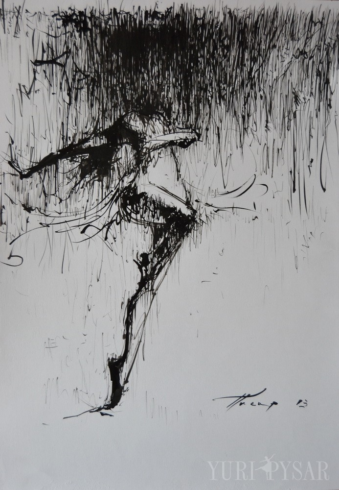 modern dancer painting