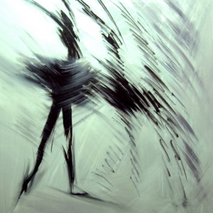 black and white ballet artwork
