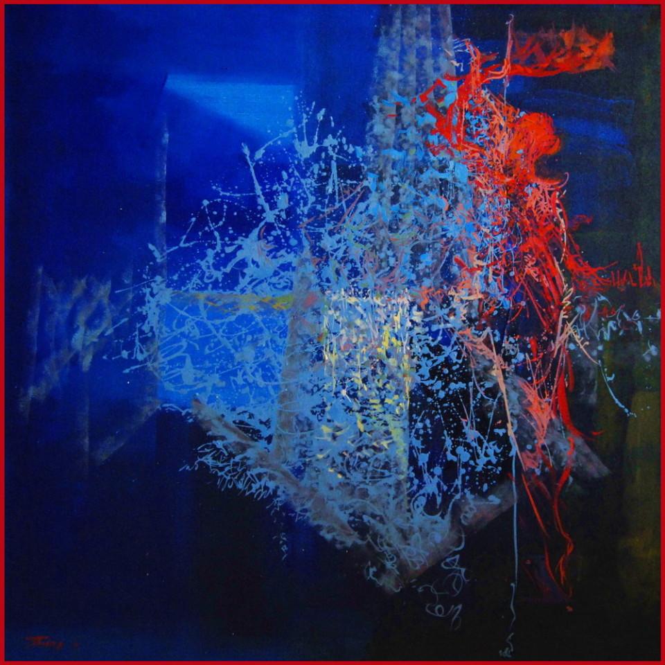 blue ballet dancer painting