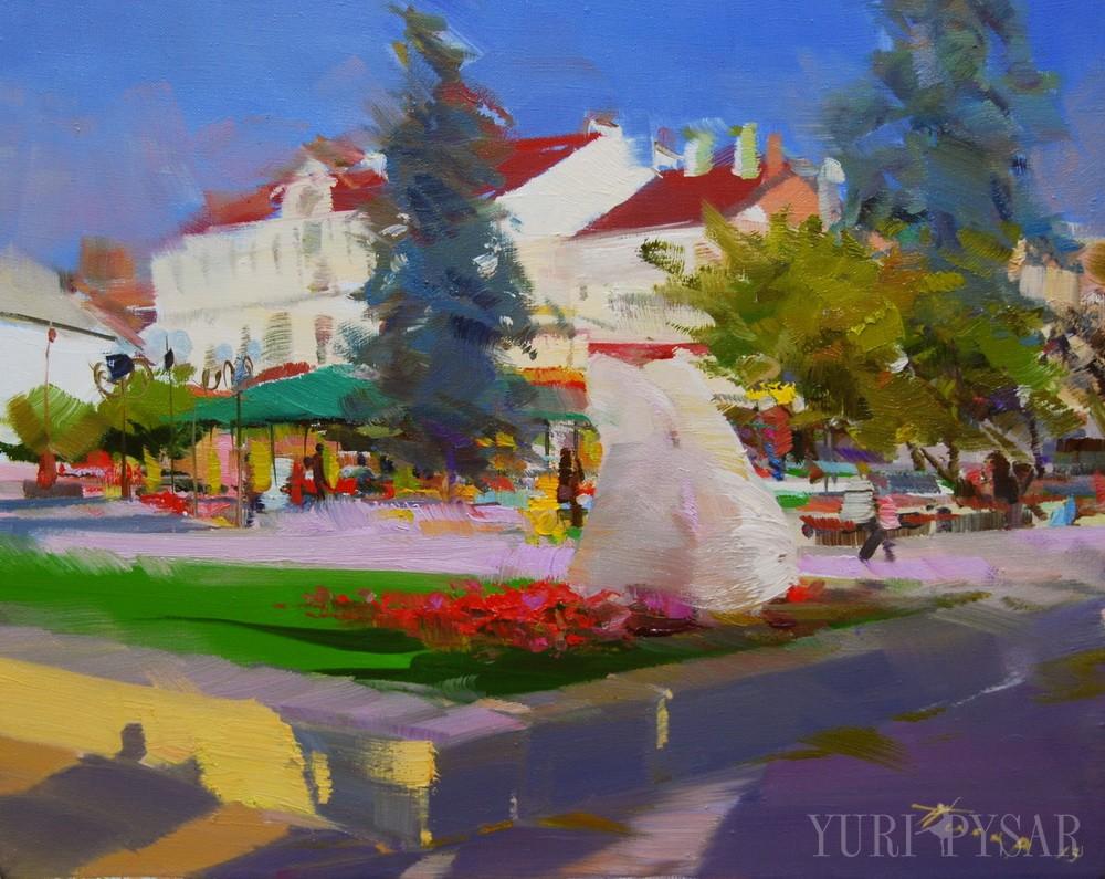 картина центра міста Івано-Франківськ