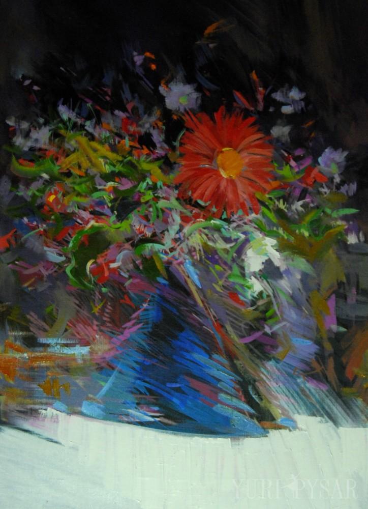 dark artwork of flowers of spring