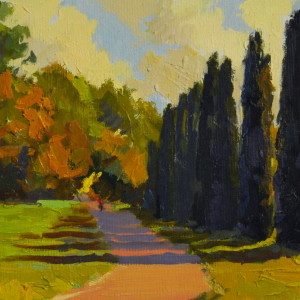 oil landscape art in autumn