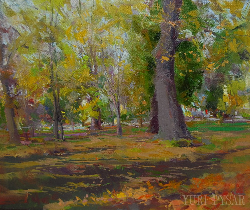 park in a landscape painting