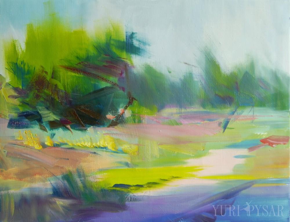 green blue nature art