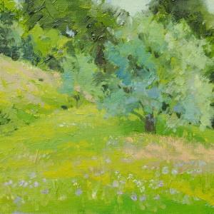 картина пейзаж, що зображає природу кінця весни початку літа в Рахові