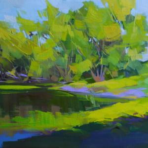 картина пейзаж зелений ліс