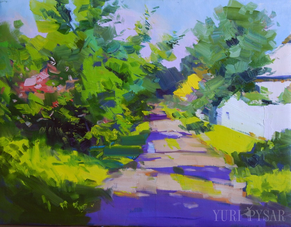painting scenery in oil
