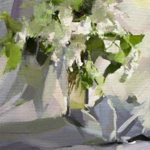 картина натюрморт з квітами білий бузок