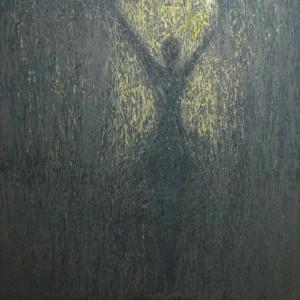 grey ballet dancer art