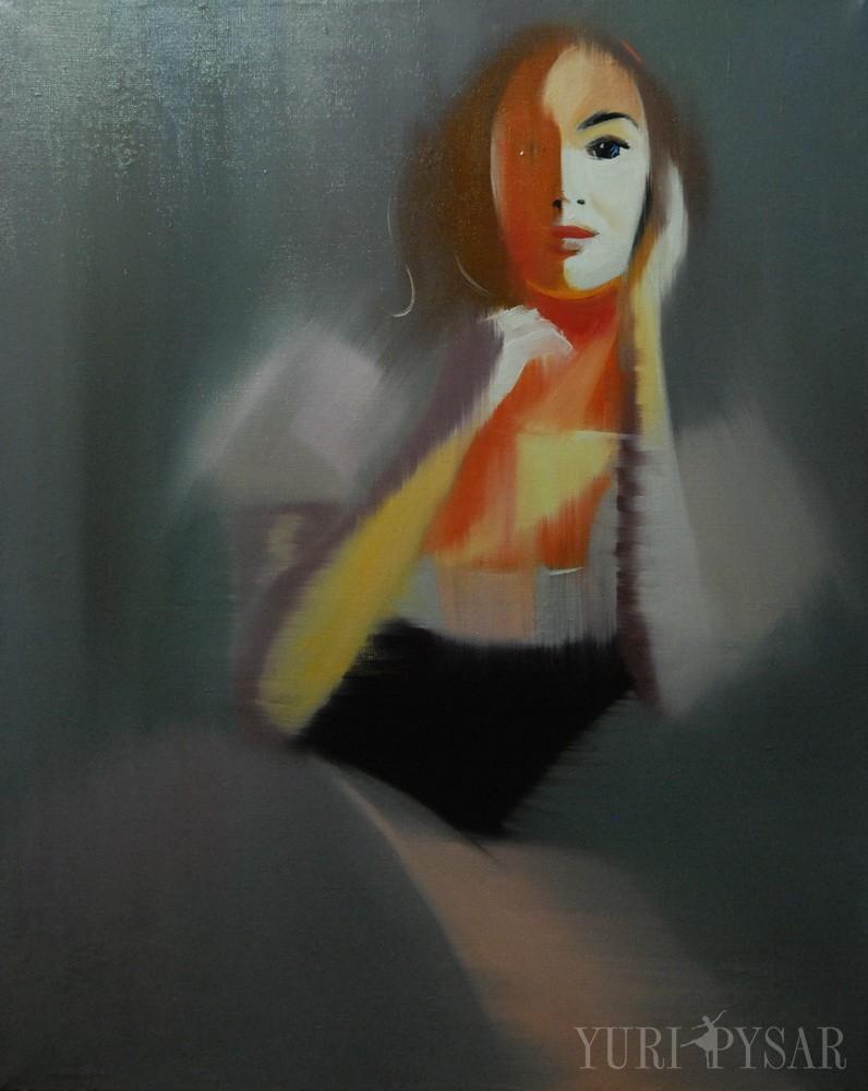 portrait painting of ballerina