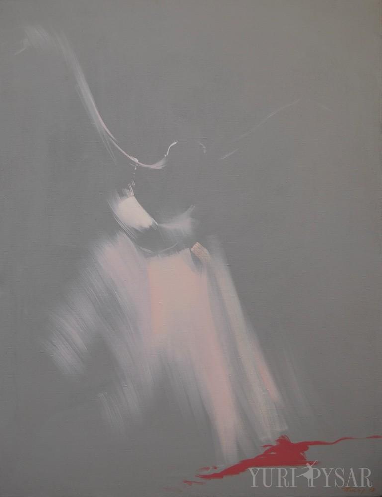 grey contemporary art of a ballet dancer