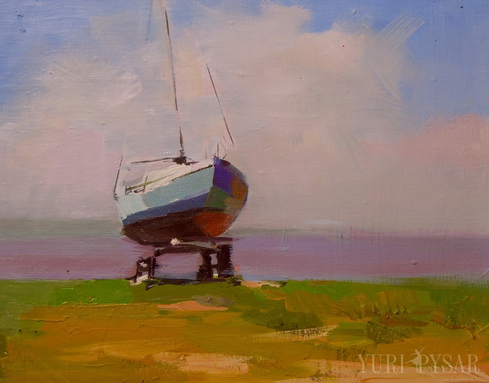 contemporary art of boat