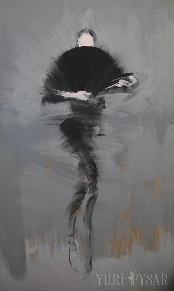 modern figurative painting of a ballet dancer