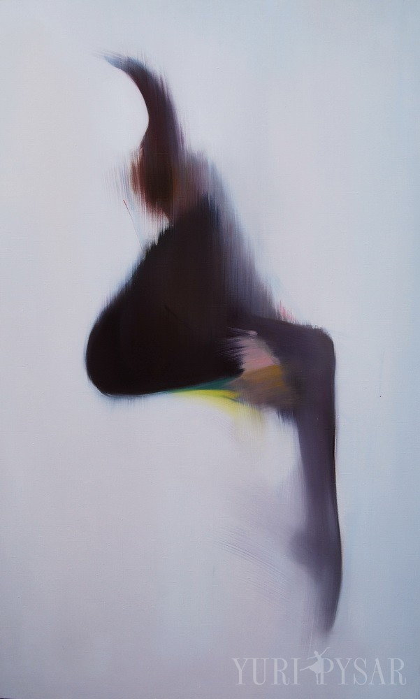 large ballerina painting on canvas