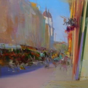 міський пейзаж картина Львів