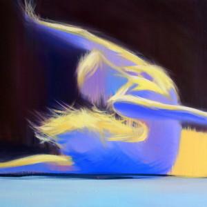 beautiful modern painting of ballerina