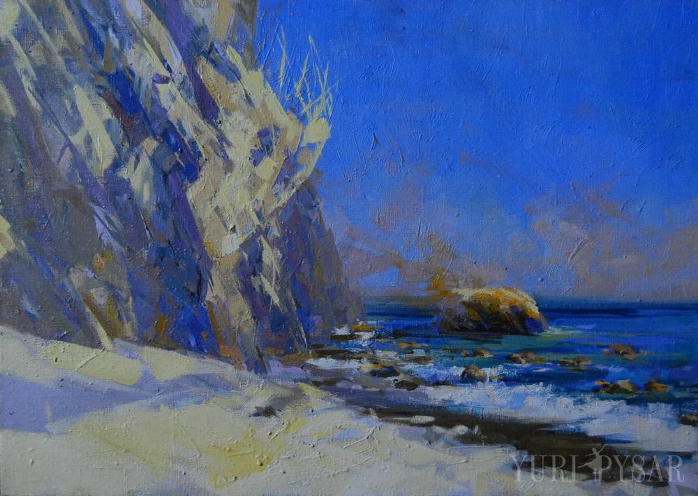 картина пейзаж моря, Крим мис Мартьян