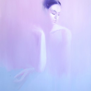 light oil painting of ballerina