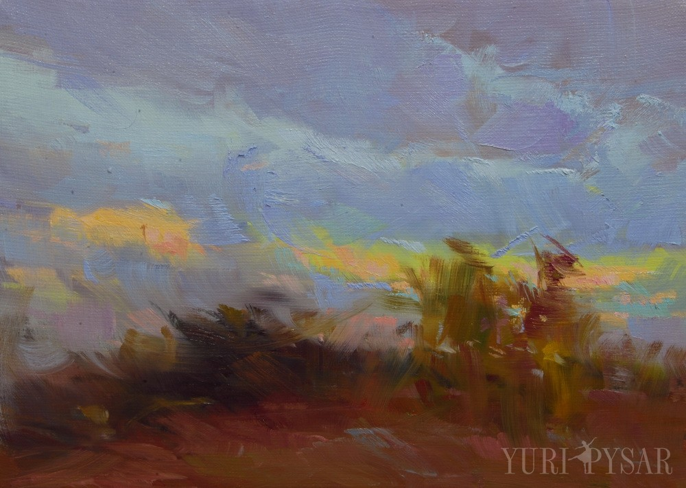 oil nature painting of autumn