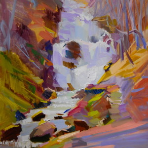 impressionist artwork on canvas