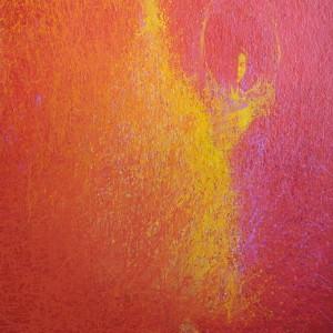 modern ballerina painting in acrylic