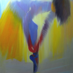 yellow ballerina painting