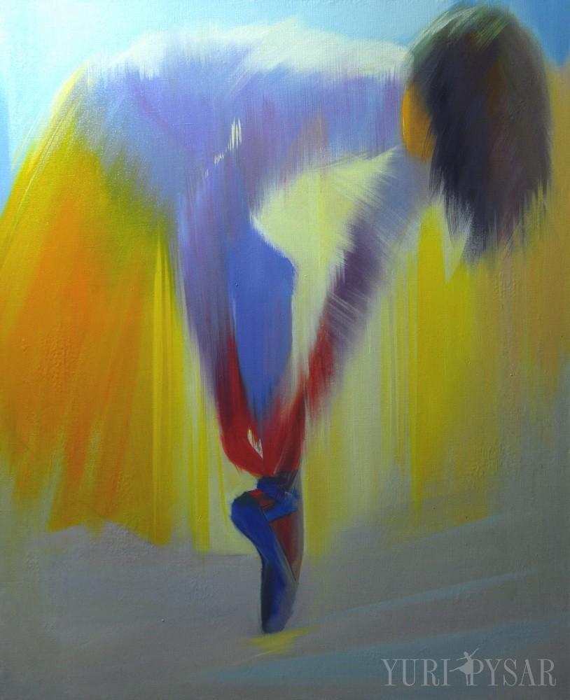 yellow ballerina painting
