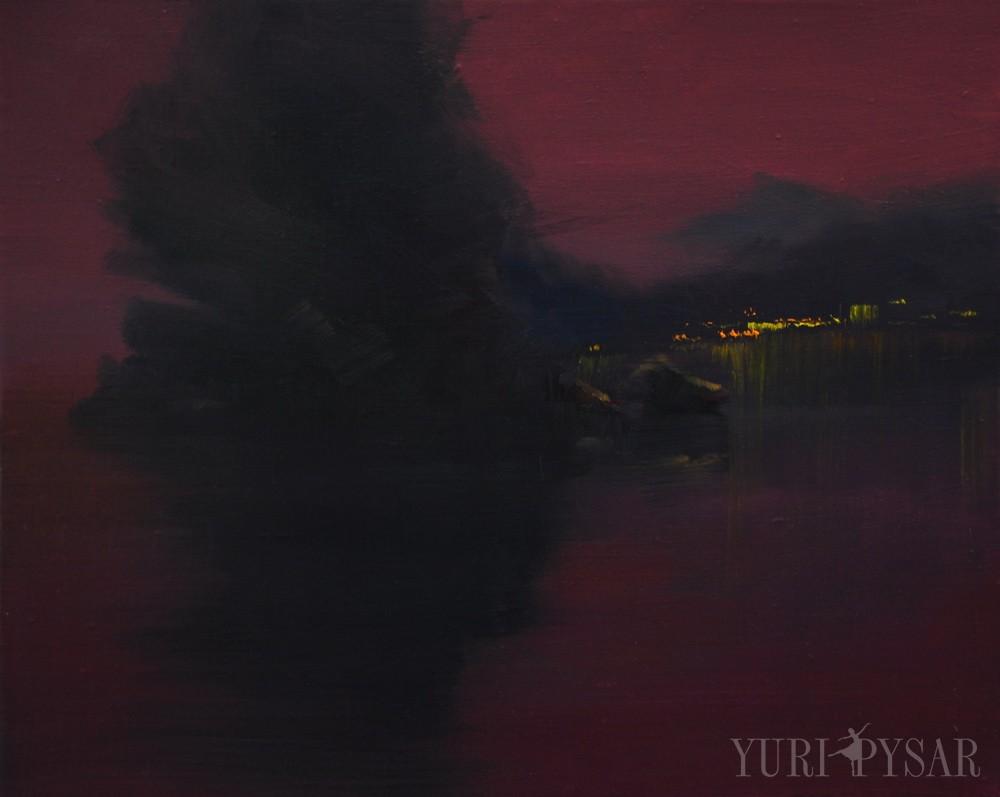 seascape art of sunset in Yalta, Crimea