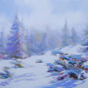 artwork of a beautiful winter landscape