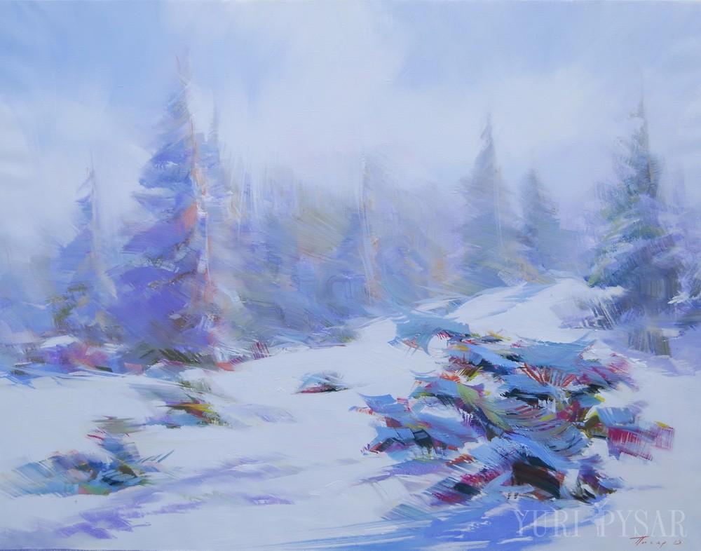 artwork of a beautiful winter landscape