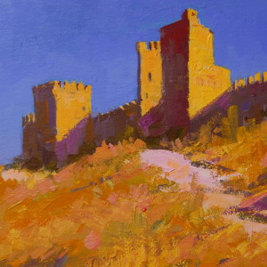 sudak fortress on canvas