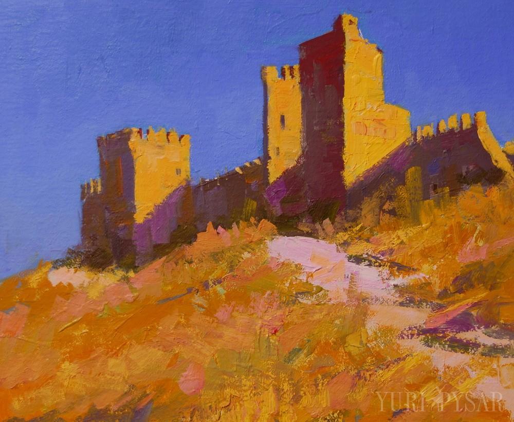 sudak fortress on canvas
