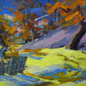impressionist painting of winter