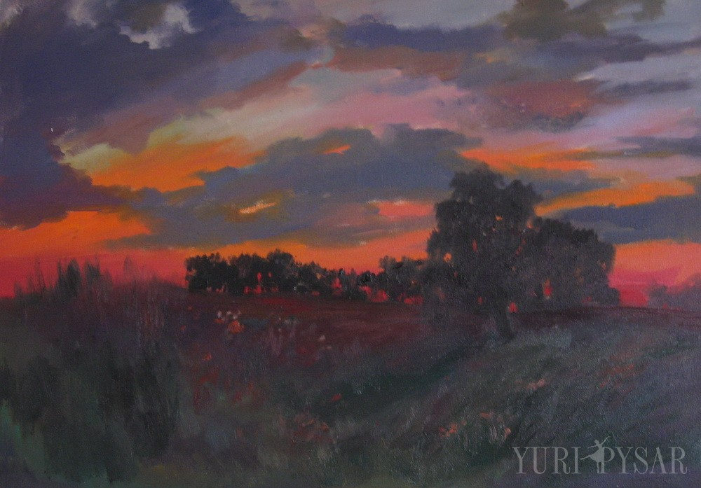 Картина пейзаж заходу сонця