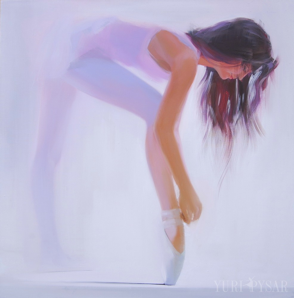ballet dancer painting in oil on canvas