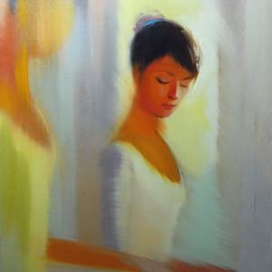 female oil painting