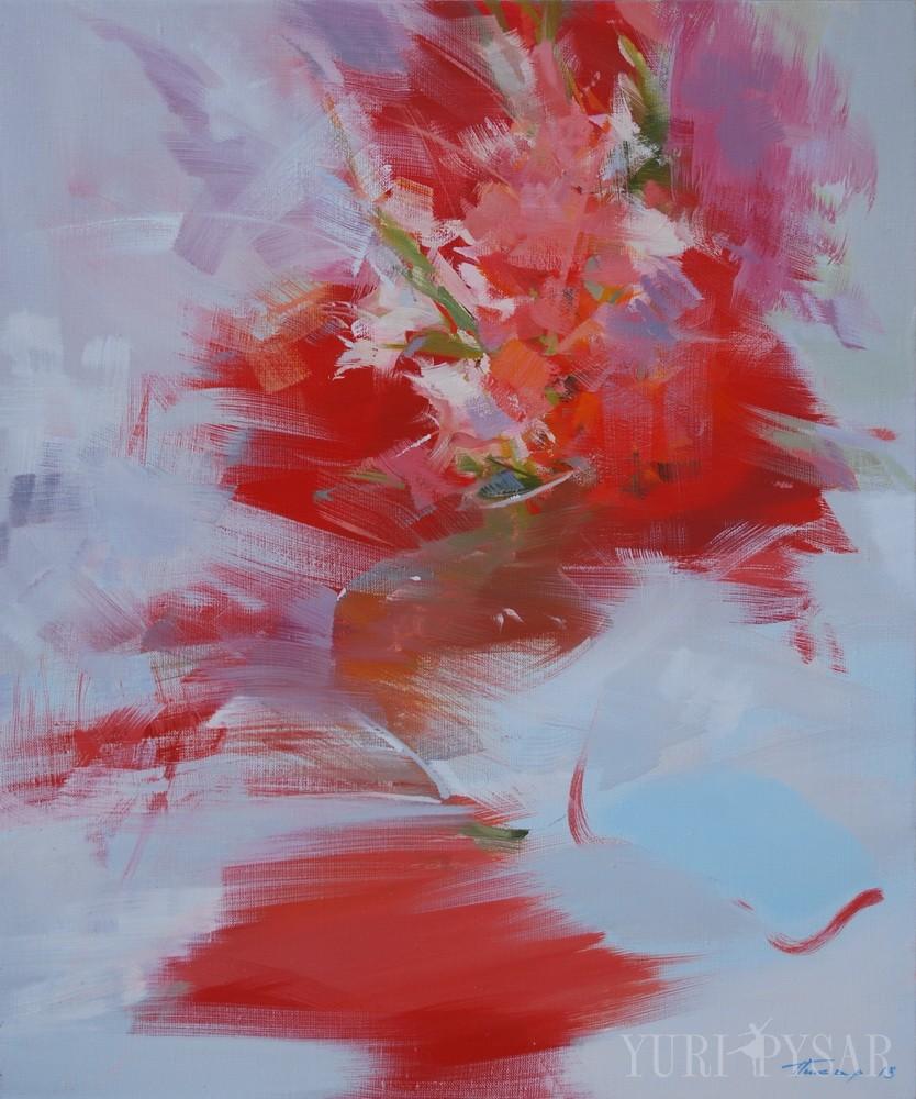 abstract modern art of flowers