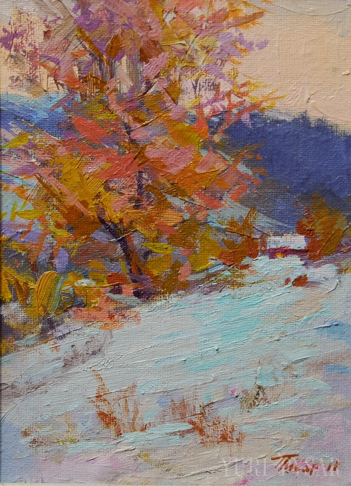 impressionism nature painting on canvas