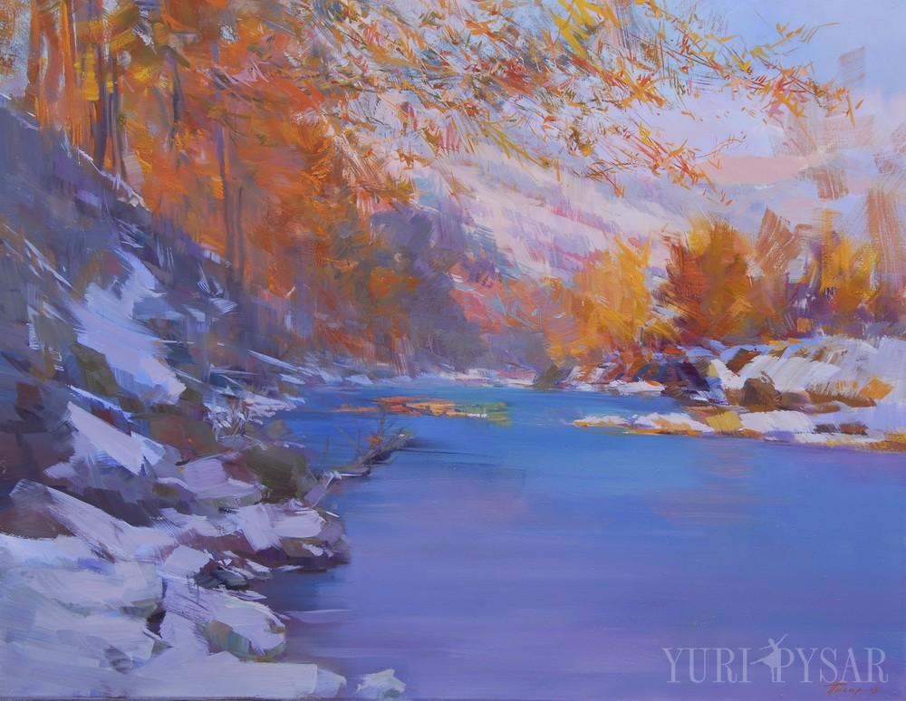 river oil artwork