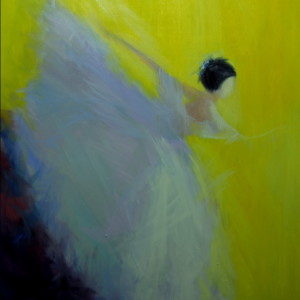 modern canvas art of dancing woman
