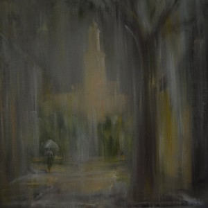 rain painting on canvas