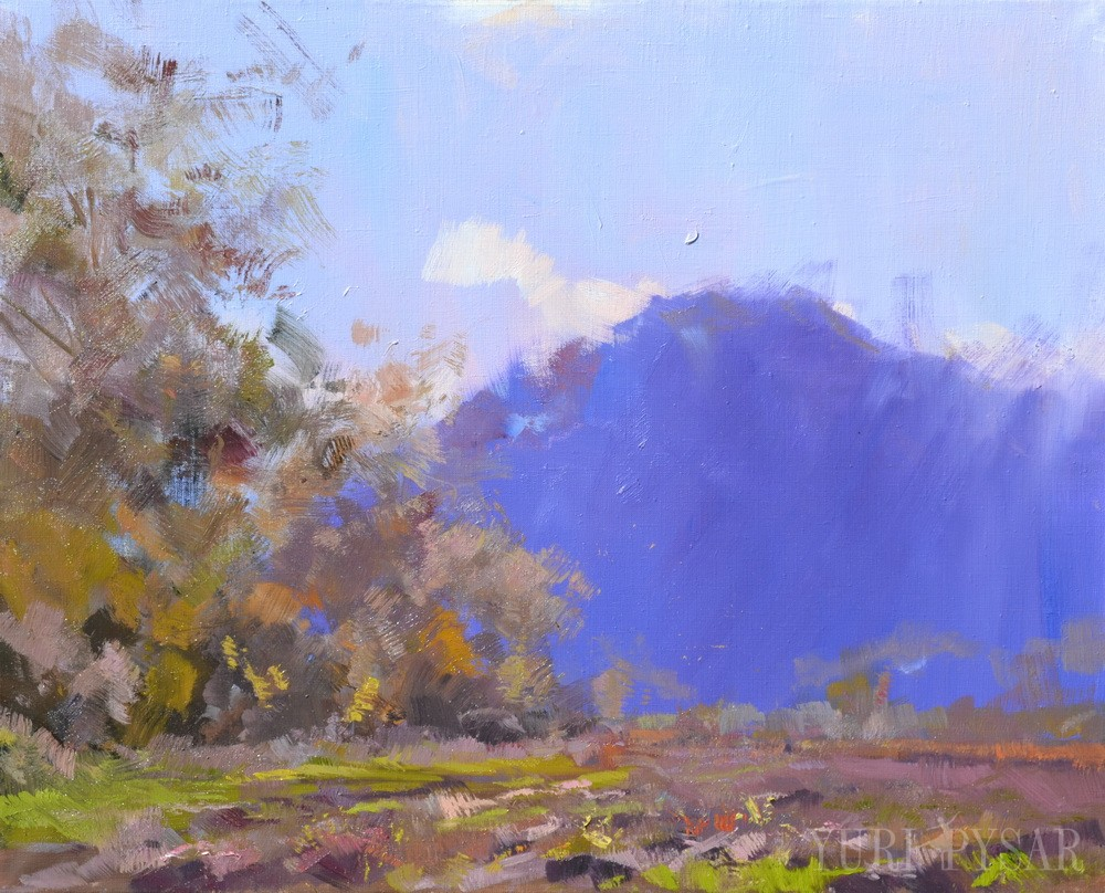 blue mountain painting